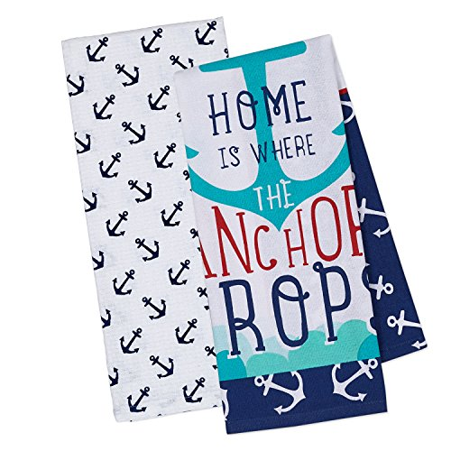 (DII Cotton Summer Printed Dish Towels, 18x28