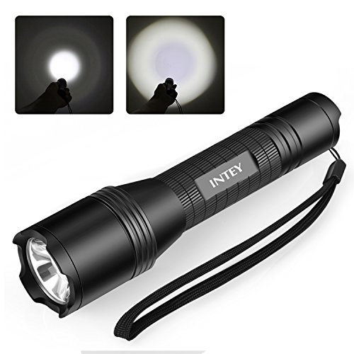- INTEY Tactical Flashlight USB Rechargeable LED Flashlight Zoomable Waterproof 900 Lumens Torch Light