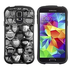 Suave TPU Caso Carcasa de Caucho Funda para Samsung Galaxy S5 SM-G900 / Smile Abstract Deep Meaning Pattern / STRONG