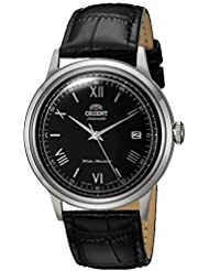 Orient Mens 2nd Gen. Bambino Ver. 2 Japanese Automatic Stainless Steel and Leather Dress Watch, Color:Black...