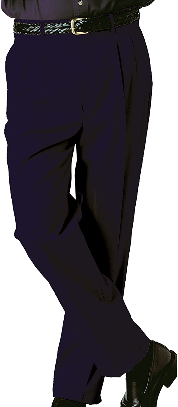Ed Garments Mens Tall Business Casual Chino Pleated Pant 32 34 Navy