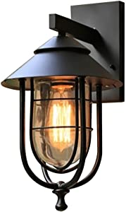 Home Decorators Collection 17546 1-Light Outdoor Wall Sconce w/Glass Shade