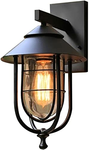 Home Decorators Collection 17546 1-Light Outdoor Wall Sconce w Glass Shade