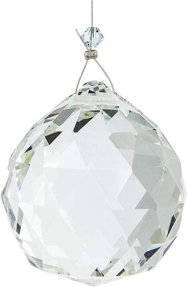 Limeow Crystal Ball Prism Pendant Glass Clear Crystal Prisms Ball Sun Catcher Feng Shui Crystals Clear Crystal Ball Prism Pendant 30 mm for Chandelier Crystal Feng Shui Wedding Window D/écor 10 Pieces