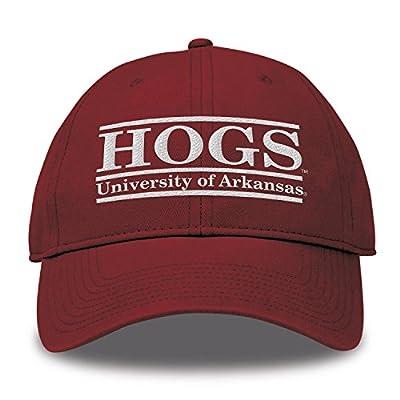 The Game NCAA Arkansas Razorbacks bar Design Twill Hatsplit bar Design Trucker Mesh Hat, Cardinal, Adjustable from MV CORP. INC