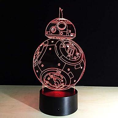 BB8 Sphero Droid 3D Night Light BB-8 Robot figura de acción de ...