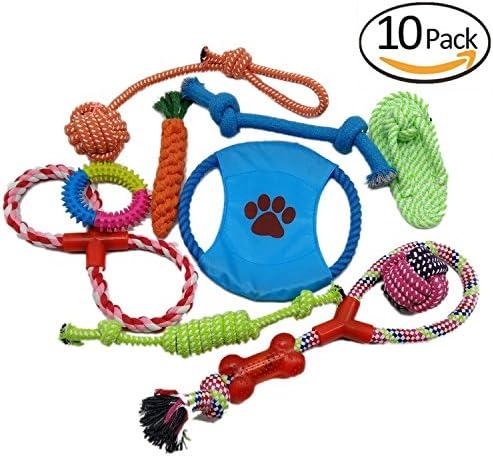 Set de 8 perro colección de juguetes, juguetes para perros variety ...
