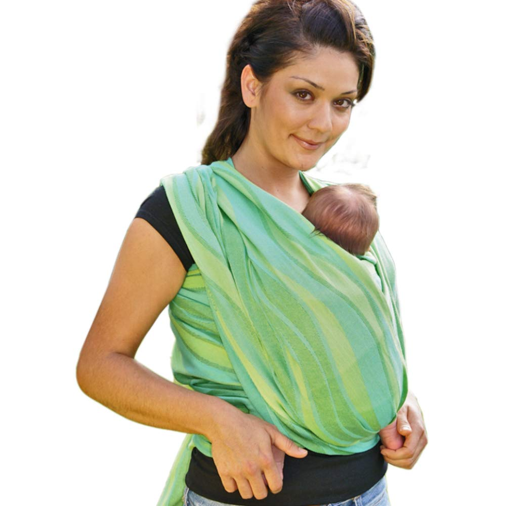 DIDYMOS Woven Wrap Baby Carrier Waves Lime Organic Cotton , Size 4