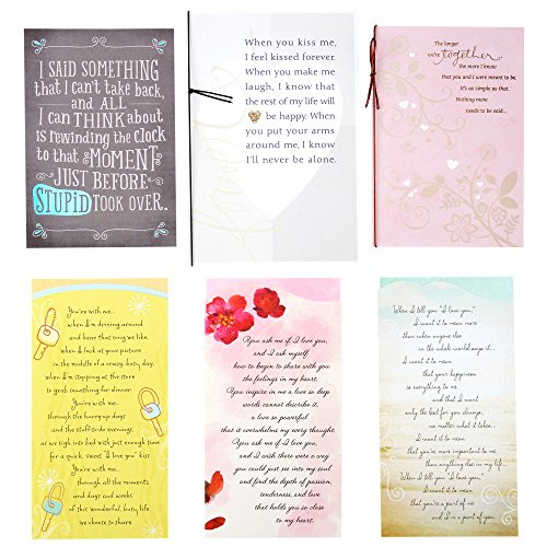 Hallmark Year of Love Greeting Card Assortment (6 Cards and 6 envelopes, Long Verse)