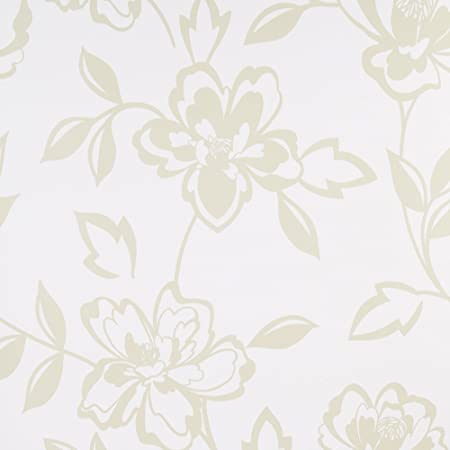 Graham And Brown Flat Patterned Floral Design Kitchen Living Room Wallpaper Roll Cream
