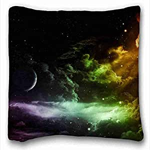 Custom Characteristic Nature Custom Cotton & Polyester Soft Rectangle Pillow Case Cover 16x16 inches (One Side) suitable for Queen-bed