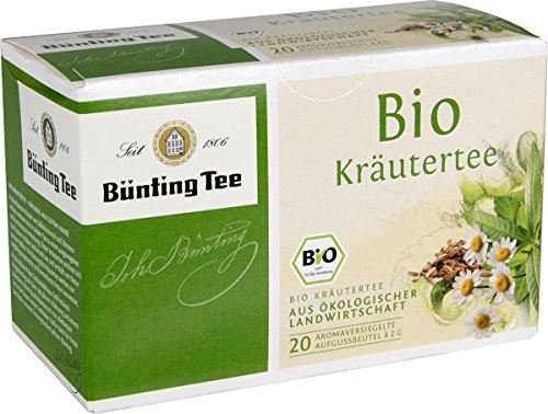 Bünting Tee Bio Kräuter 20 x 2g Beutel, 3er Pack (3 x 40 g)