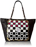 Betsey Johnson Kitch Check Me Out Tote Bag, Black, One Size