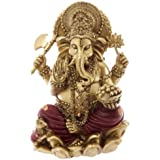 Puckator Gold and Red Ganesh Statue 16cm