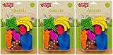 LW Nibblers Wood Fruit/Veggie Mix Small Pet Chew Toy [Set of 3]