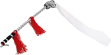 Fuchen de Taichi,Mouche Queue de Cheval b/âton Taichi Bois poign/ée en Bois de Chevaux Tail Martial Arts bouddhistes tao/ïste Qi Gong Martial Arts Arme Fuchen Duster avec Sac de Transport