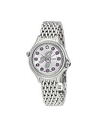 Fendi Crazy Carats Silver Dial Ladies Diamond Watch F105026000B3P02