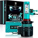 Glowteck EXTREME360 LED Headlight Conversion Kit for Xenon, HID, Halogen Light Bulbs, 9005 (HB3), Brightest Light for Greater Visibility at Night, Easy to Install, CREE XHP50 Chip and 2 Year Warranty