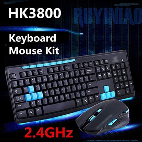 2.4Ghz Wireless Gaming Gamer Keyboard And Mouse Kit For Desktop Pc Laptop Hk3800 Value-5-Star