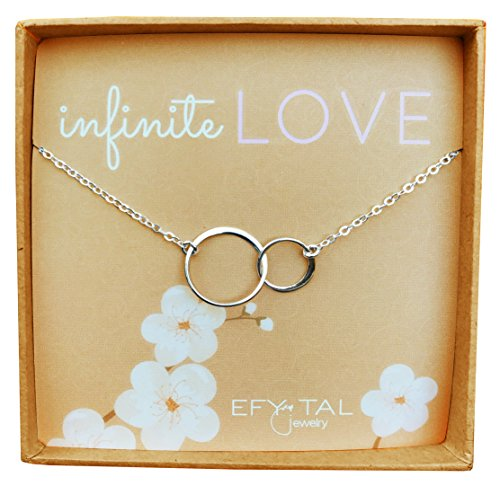 Sterling Silver 'Infinite Love' Necklace, Efy Tal Jewelry Interlocking Double Circles Anniversary - Pendant Necklace Circle Double