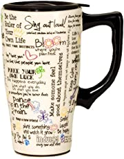 Spoontiques Positive Affirmations Travel Mug, White 5.2 x 3.5 x 6.4 inches