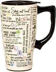 Spoontiques Positive Affirmations Travel Mug, White