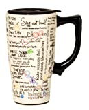 Spoontiques Positive Affirmations Travel Mug, White