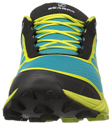 Scarpa Mens Trail Atomo Corsa In Montagna Pattino Corridore Abisso / Calce