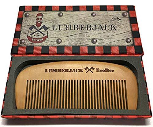 Hair Comb Lumberjack – Pear wood – Gift box – Perfect for Beard Oils & Balms