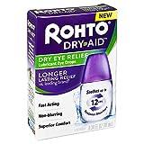 Rohto Dry Aid Dry Eye Relief Lubricant Eye Drops, 0.34 fl oz (Pack of 2)