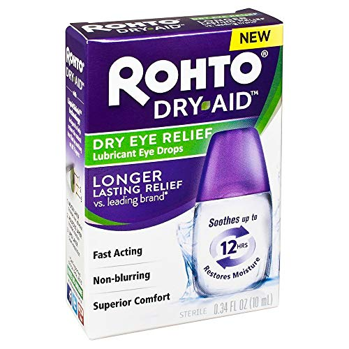 Rohto Dry Relief Lubricant Eye Drops, 0.34 Ounce