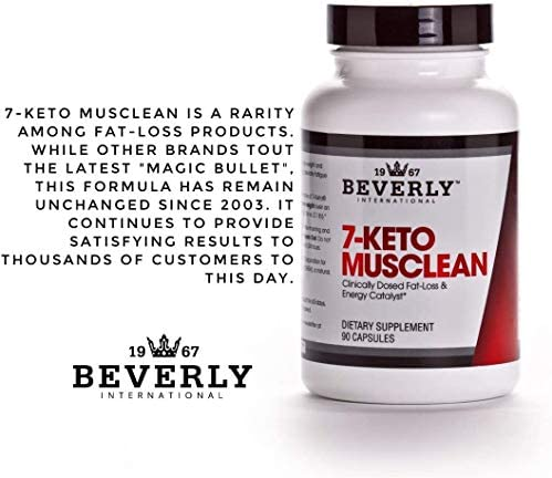 7-Keto Musclean. 3X Potency Thermogenic Weight Loss Pill for Men and Women. Lose up to 3X as Much Body Fat Without Losing Muscle Tone. Boost Fat-Burning Metabolism. Reduce overeating. 90 caps. 5