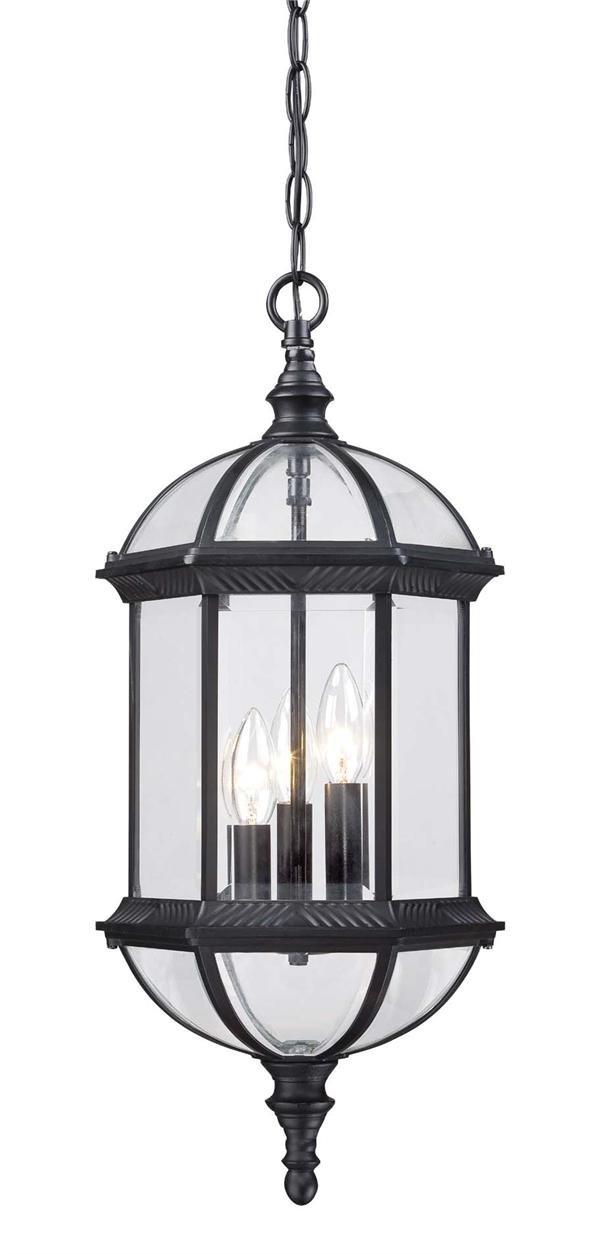 Acclaim 5274BK Dover Collection 3-Light Outdoor Light Fixture Hanging Lantern, Matte Black