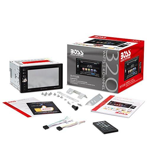 51C4doUR uL - BOSS Audio BV9358B Double Din, Touchscreen, Bluetooth, DVD/CD/MP3/USB/SD AM/FM Car Stereo, 6.2 Inch Digital LCD Monitor, Wireless Remote