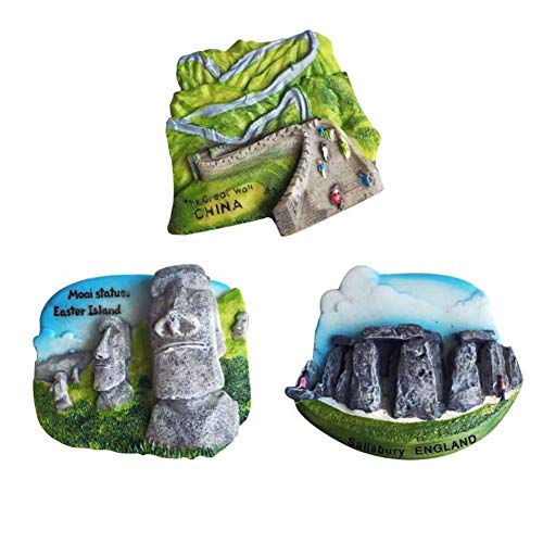 3 Piece Special Commemorative Journey Resin Refrigerator Magnets