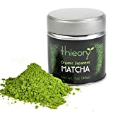 thieory Japanese Matcha Green Tea Powder (USDA and JAS Organic) Premium Grade Ceremonial Quality – Grown Under Strict Organic Farming Practices – Product of Japan – 1 oz.