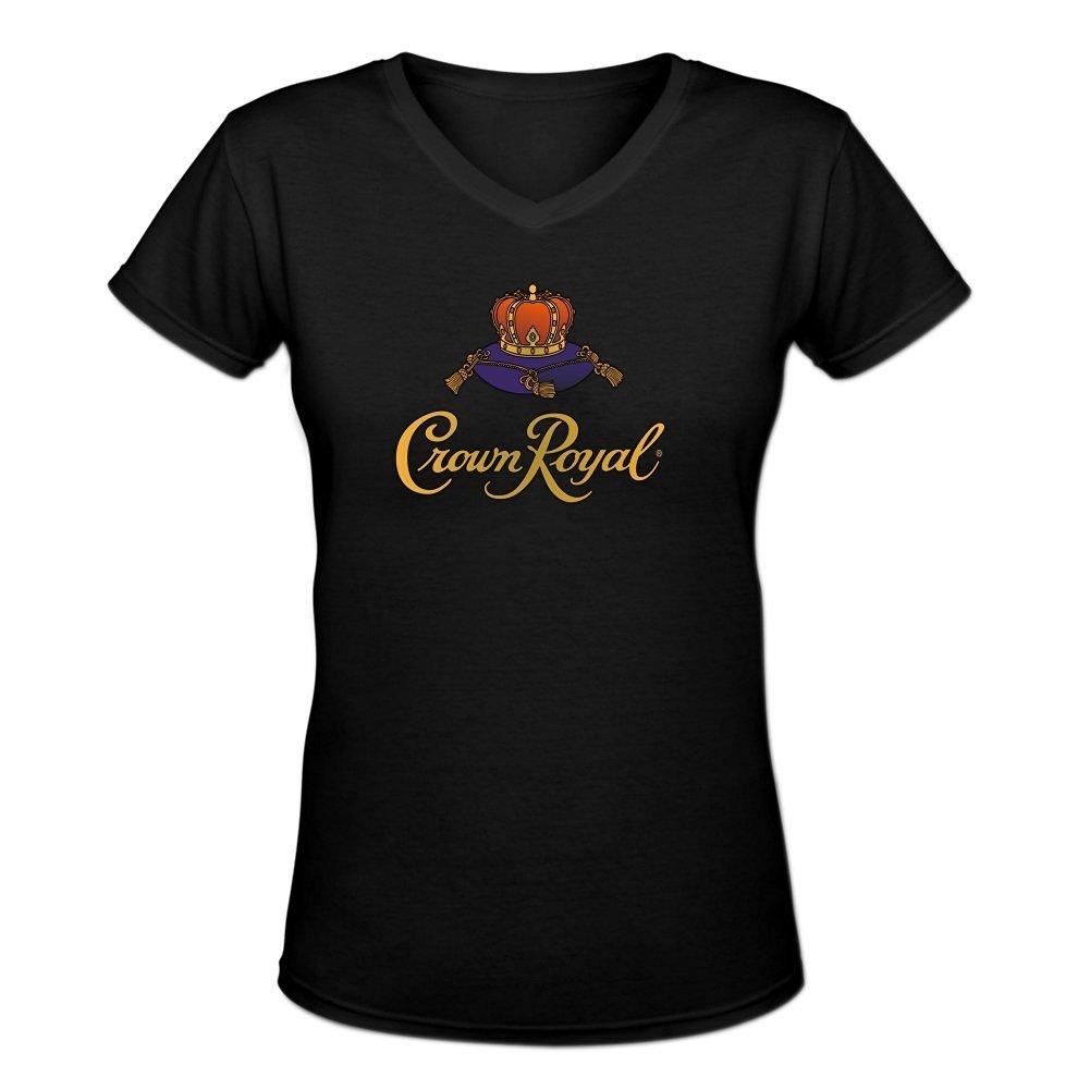 Amazon Ziyang Womens Crown Royal Printed V Neck Shirt M Black