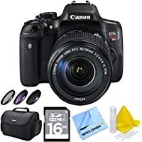 Canon EOS Rebel T6i Digital SLR Camera w/ 18-135mm STM Lens Bundle includes Camera, Lens, 58mm Deluxe Filter Kit, Gadget Bag, 16GB SDHC Memory Card, Lens Cleaning Kit and Beach Camera Cloth Basic Intro Review Image