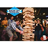 Tumbling Towers Giant JUMBO Game Blocks up to +5FT & Includes Wooden Case