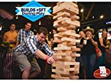 Giant JUMBO Tumbling Towers Game Blocks up to +5FT & Includes Wooden Case