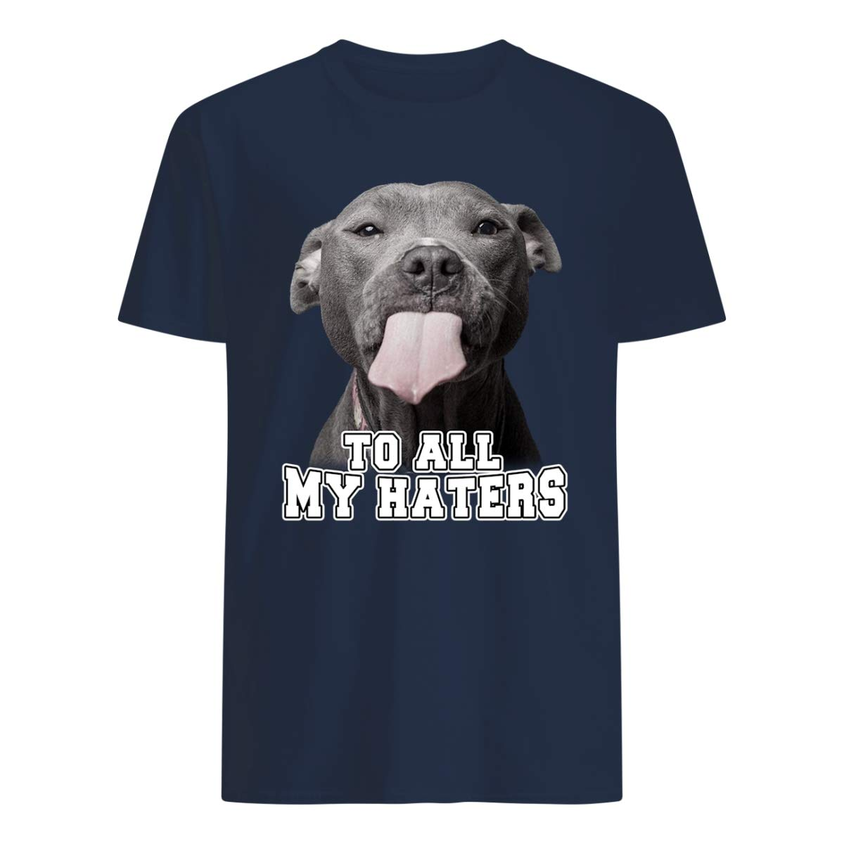 Reality Stone Funny To All My Haters Pitbull T Shirt For Pitbull Lover Gifts Nav