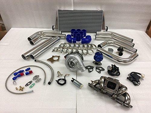 Turbo Kit Sr20 (89-98 240SX S13 S14 SR20DET SR T3T4 .63 Turbo Kit Stainless Steel Manifold FMIC)