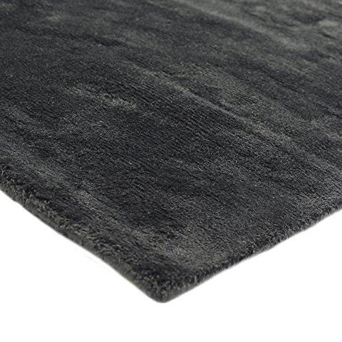 - großes Art Silk Rug 200 x 290 Viskose-Monbeautapis, Pflaume