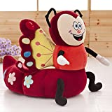 Anti-slip Cartoon Butterfly Plush Chair - Detachable Toy Sofa Insect Series Children Gifts 20 X 23 Inch