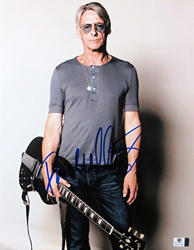(Paul Weller Signed Autographed 11X14 Photo Sexy Pose w/Guitar The Jam GV837766)