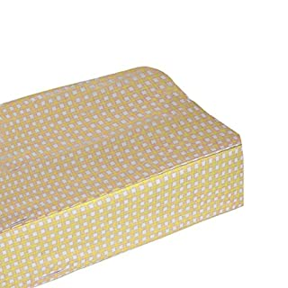 bkb Gingham Flat Changing Pad Cover, Yellow