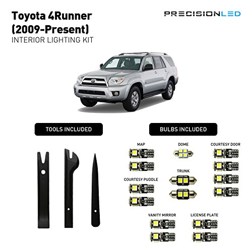 Precision LED 2009 - 2016 Toyota 4Runner LED Interior Lighting Kit with License Plate LED's & Install Tools (8000K)
