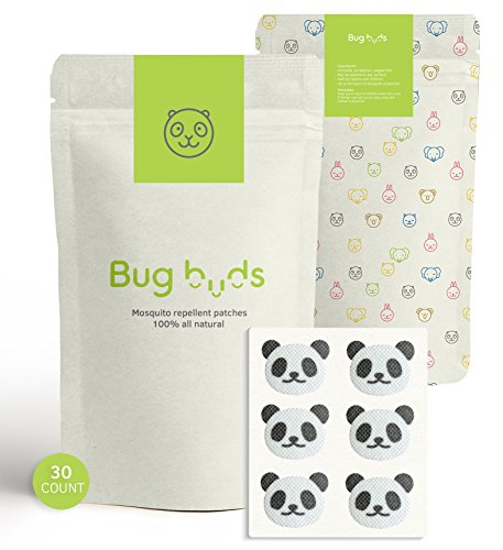 Bug Buds Mosquito Repellent Stickers for Kids | DEET-Free 24hr All-Natural Bug Insect Repellent Patches for Baby | Picnic/Travel Accessories | Safe for Babies | Best for Outdoor/Indoor Use (30 Count)