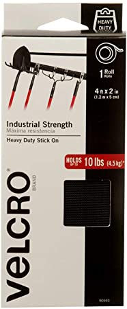 "2~Velcro Brand Hook and Loop Fastener Industrial Stregnth 48/"" by 2/"" 1 pk 90593"