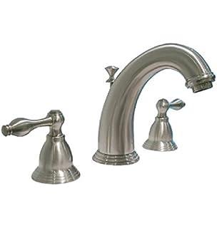 AquaSource Brushed Nickel 2 Handle Bathroom Faucet (Drain Included)  N1158500031